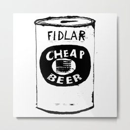 Cheap Beer Metal Print