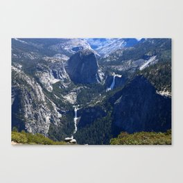 Vernal Falls And Nevada Falls Canvas Print