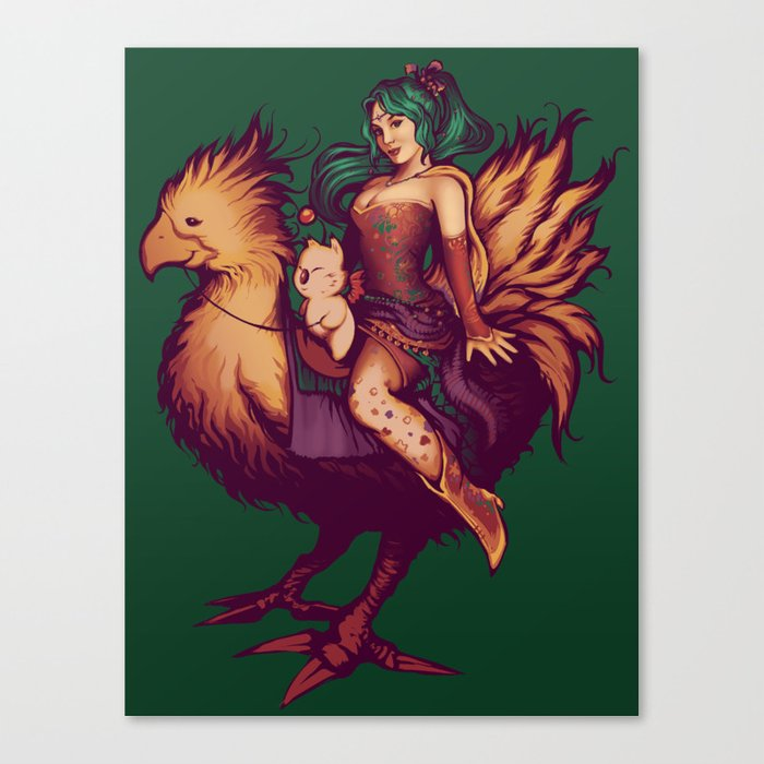 Mog's Chocobo Riding Club Canvas Print
