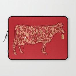 Milk Factory Cow Laptop Sleeve
