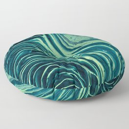 Lagoon Acrylic Tree Ring Pour Painting Floor Pillow