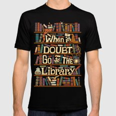 Go to the library Black LARGE Mens Fitted Tee