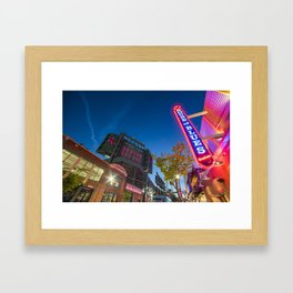 Lansdowne Street Fenway Park House Of Blues Boston Ma Framed Art Print