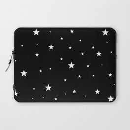 Scattered Stars - white on black Laptop Sleeve