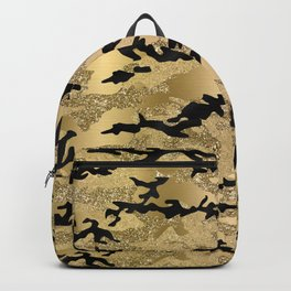 Gold Camouflage Backpack