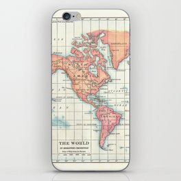 World Map - Colorful Continents iPhone Skin