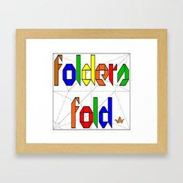 Folders Fold Framed Art Print