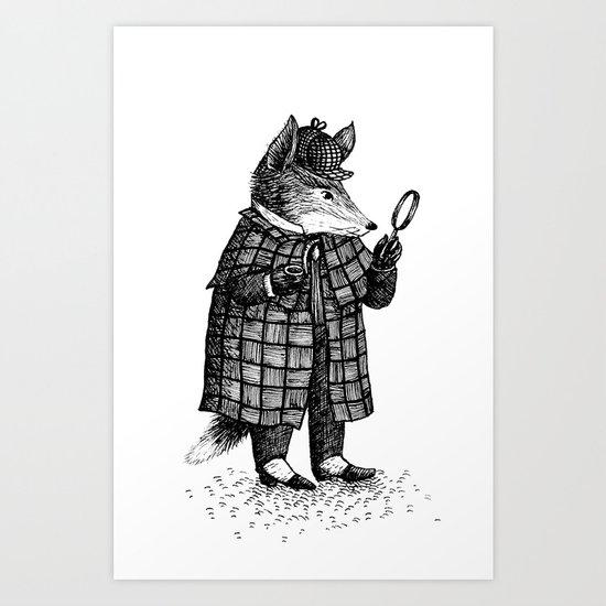 Fox - Boy Art Print