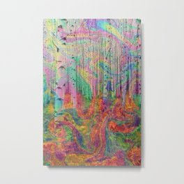 Hipster Forest Metal Print