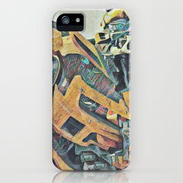Bumblebee Surprised Artistic Illustration Colored Pencils Lines Style iPhone Case