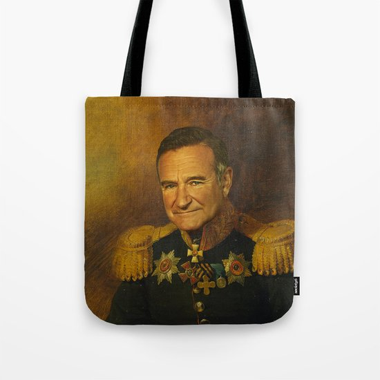 Robin Williams - replaceface Tote Bag