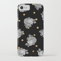 gold dots iPhone & iPod Cases featuring Roses and Gold Dots by Sandra Arduini