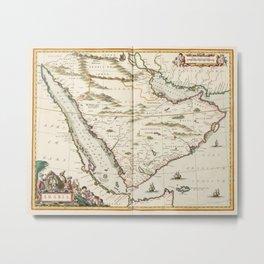 Vintage Map of Saudi Arabia (1662) Metal Print