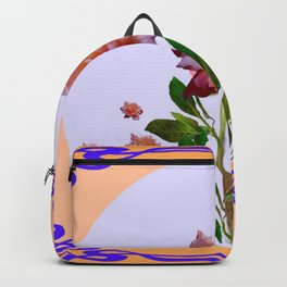 PEACHY PINK ROSE ART NOUVEAU ART Backpack