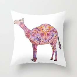Henna Camel Throw Pillow