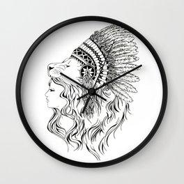 Lion HeadDress  Wall Clock