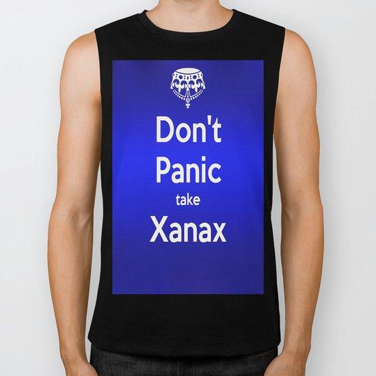 Don't Panic take xanax 2 Biker Tank