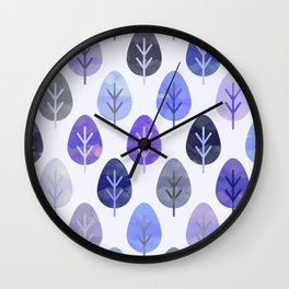 Watercolor Forest Pattern #5 Wall Clock