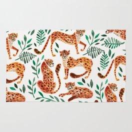 Cheetah Collection – Orange & Green Palette Rug
