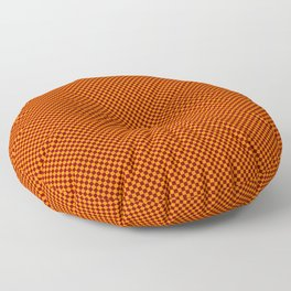 Orange and burgundy squares Floor Pillow