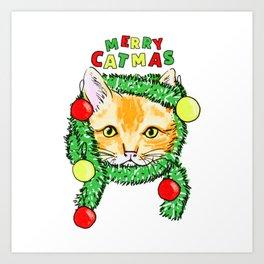 Baby Catmas Art Print