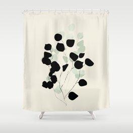 minimal leaves eucalyptus Shower Curtain