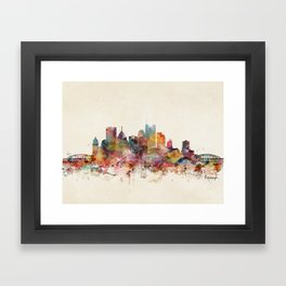 pittsburgh pennsylvania skyline Framed Art Print