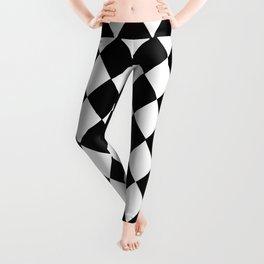 HARLEQUIN BLACK AND WHITE PATTERN #2 Leggings