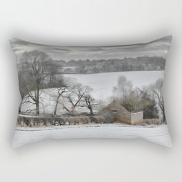 Winter barn Rectangular Pillow