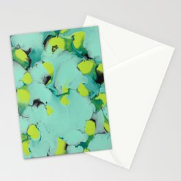 Marble green Stationery Cards