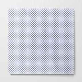 Deep Periwinkle Polka Dots Metal Print