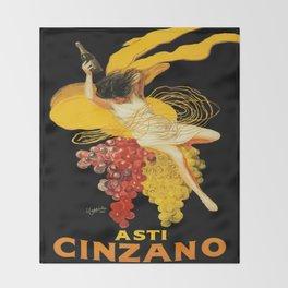 Vintage poster - Asti Cinzano Throw Blanket