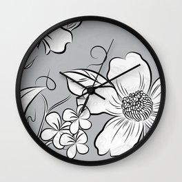 Merry Marsh Marigold - Black and White Wall Clock