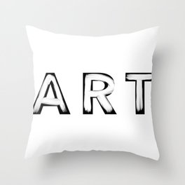 Minimalist Art White Brush Strokes Throw Pillow