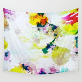 Abstract Paint Splatter Art Wall Tapestry
