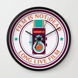 Film is not dead, long live film Wall Clock