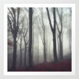 bonds - foggy forest scene Art Print