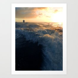 Sailing Away Art Print