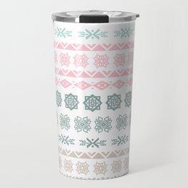 Modern pastel color geometrical scandinavian pattern Travel Mug