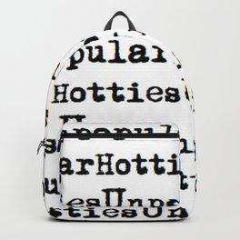 Unpopular Hotties pattern Backpack