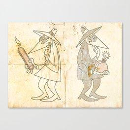 Spy vs. Spy Canvas Print