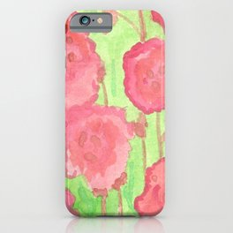 Red Roses Abstract iPhone Case