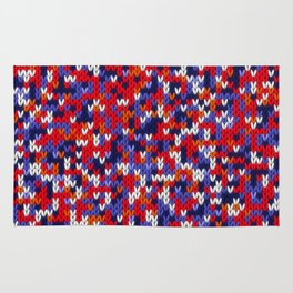 Knitted multicolor pattern 3 Rug