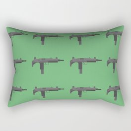 Uzi submachine gun Rectangular Pillow