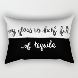 Glass half full... Rectangular Pillow