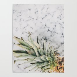 PINEAPPLE - MARBLE - PHOTOGRAPHY Poster
