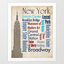 Travel - New York Art Print