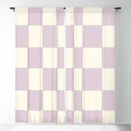 Lilac Check Pattern Blackout Curtain