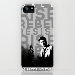 "Gale ""Rise Rebel Resist"" Hawthorne iPhone Case"