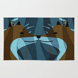 Gorgeous Foxes Kiss Design Rug